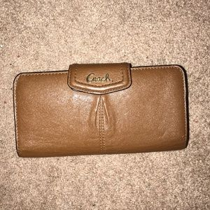 COACH Vintage brown cognac wallet